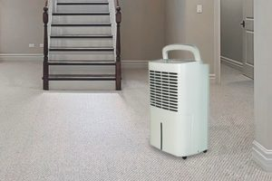 A basement dehumidifier