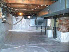 A very clean crawl space