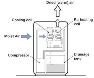 A compressor-dehumidifier