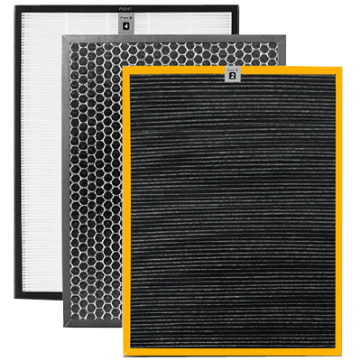 Spare carbon filters for an air purifier