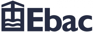The logo of Ebac dehumidifiers