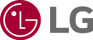 The logo of LG Electronics